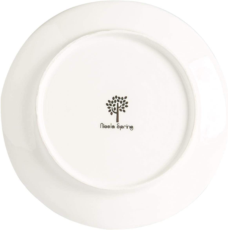 Novelty Festive Xmas Tableware Patchwork 20cm Nicola Spring 4 Piece Christmas Dessert Plates Set