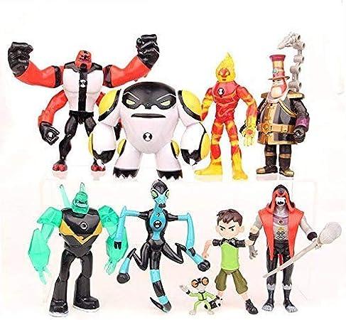 Conjunto de 9 Ben 10: Supremacía Alienígena Juguetes de Figuras de acción Colecciones de muñecas de PVC Conjuntos de Juguetes 3-12 CM