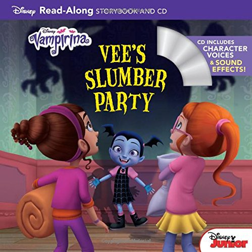 Download Vampirina Read-Along Book and CD Vee's Slumber Party (Read-Along Storybook and CD) PDF