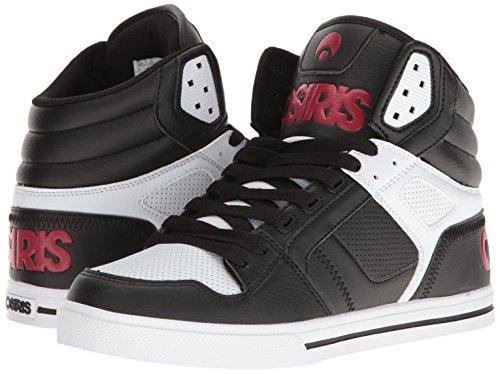 Homme Chaussure Skate Hi Top Blanc De Pour Rouge Osiris Clone Noir BPPwqf06rn