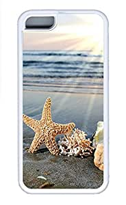 Cases For iPone 5C - Summer Unique Cool Personalized Design Starfish On The Beach In The Sun