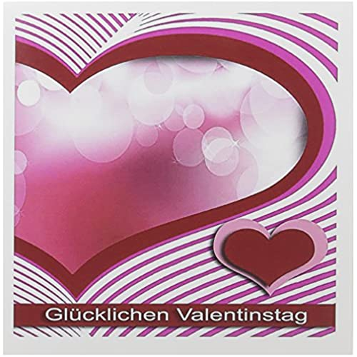3dRose Happy Valentines Day in German Hearts and Bubbles Greeting Cards, 6 x 6 Inches, Set of 6 (gc_40373_1) Sales