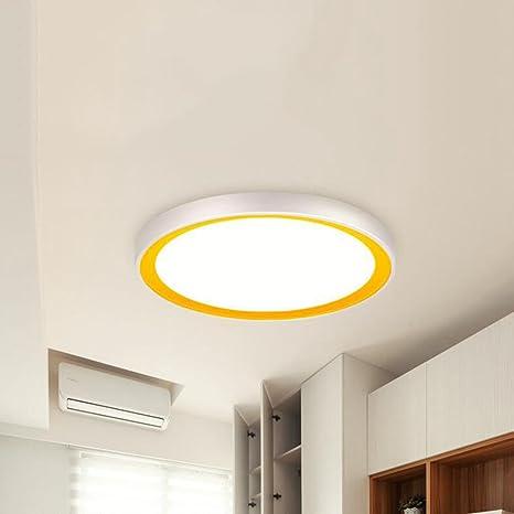 BiuTeFang llevó lámpara de techo moderna plateada redonda ...
