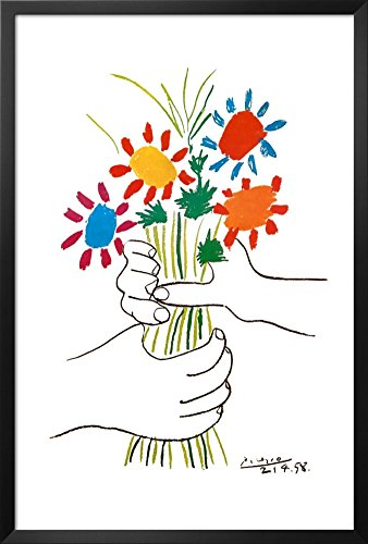 Petite Fleurs Framed Poster by Pablo Picasso 26 x 38in