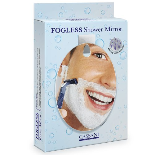 Fogless Shower Mirror   EASY INSTALL   SHATTER PROOF   Includes Razor Hook    Modern