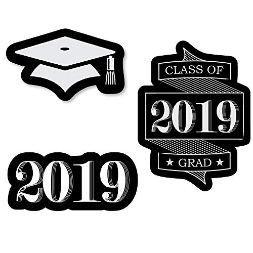 - Big Dot of Happiness Graduation Cheers - DIY Shaped 2019 Graduation Party Cut-Outs - 24 Count