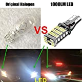 FlashWolves 921 912 W16W T15 T10 45SMD Chipsets LED Canbus Error Free Bulbs For Backup Reverse Lights 1000 Lumens 6000k Xenon White 2 Piece