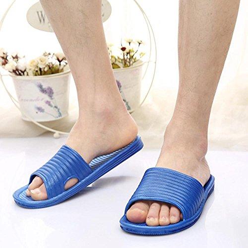 Bath Sandals Stripe Man Slippers Flat FTXJ Blue Indoor Slippers Boys gq8XAgw