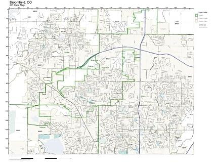 Amazon Com Zip Code Wall Map Of Broomfield Co Zip Code Map Not