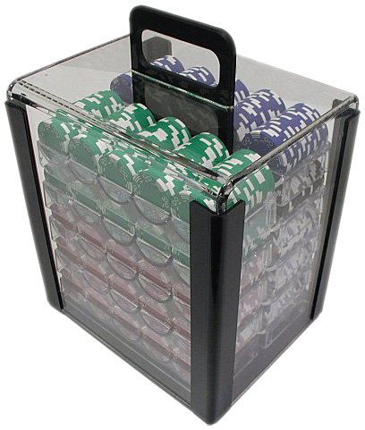 Trademark 1000 Chip Capacity Clear Carrier Chip (Clear) by Trademark Global
