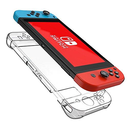 Kungber Anti-Scratch Hard Back Case Cover for Nintendo Switch Transparent Ergonomic Accessories Skin (clear)