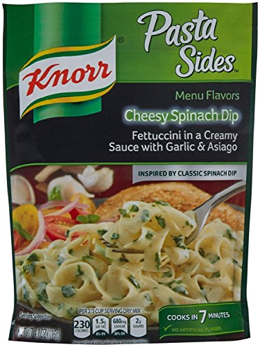 Knorr Pasta Sides Cheesy Spinach Dip, 4.1 oz. (Pack of 2) ()