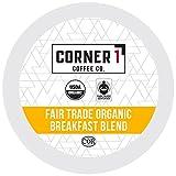 Gourmet Food : Corner One Coffee, 100 Ct. Single-Serve K-Cup, Fair Trade Organic Breakfast Blend, Keurig 2.0 Compatible