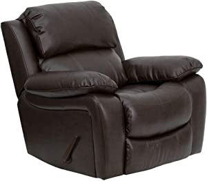 Flash Furniture Brown LeatherSoft Rocker Recliner
