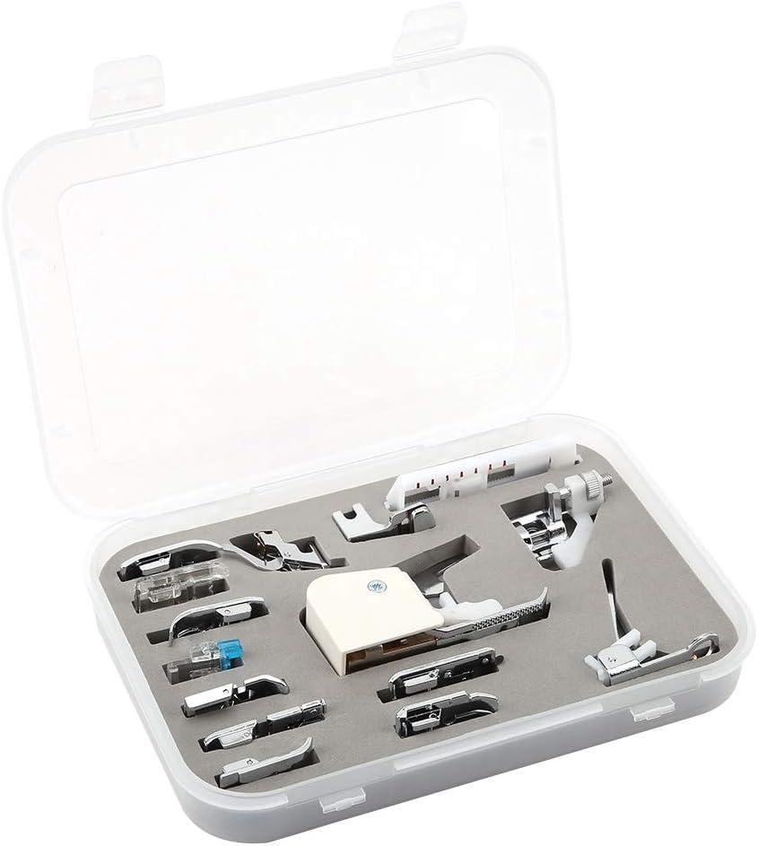 HEEPDD 15Pcs Kits de prensatelas para máquina de Coser Profesional ...