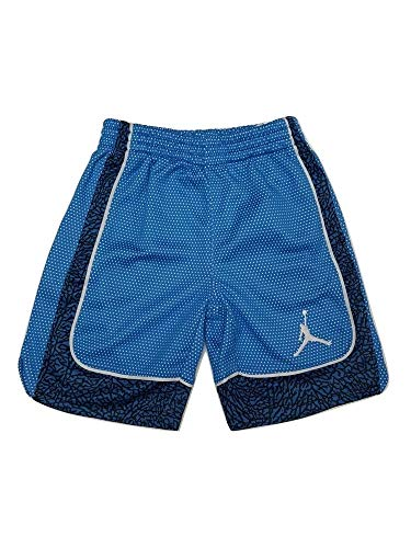 (Jordan Nike Boys' Elephants Print Dri-Fit Basketball Shorts (Lt Photo Blue) Size 4)