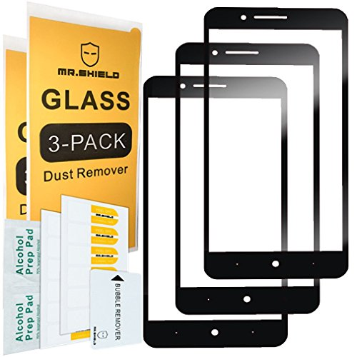 [3-Pack]-Mr.Shield for ZTE Blade Z Max [Japan Tempered Glass] [9H Hardness] [Full Cover] Screen Protector with Lifetime Replacement