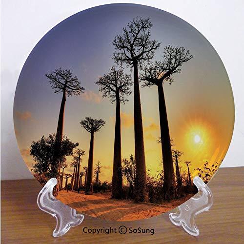 Madagascar Dinner Plates - Sunset 8