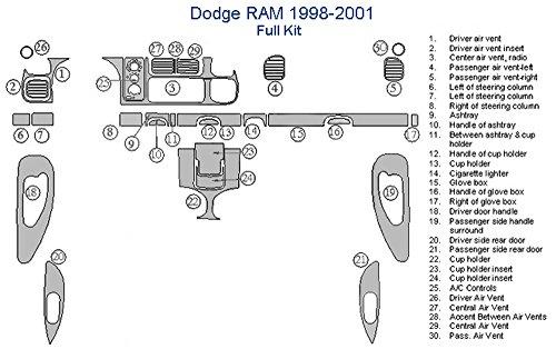 Dodge RAM Full Dash Trim Kit – Japanese Cherry Wood