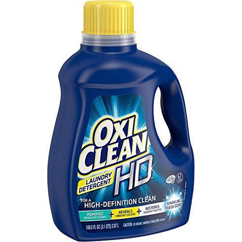 OxiClean HD Sparkling Fresh Scent Liquid Laundry Detergent (100.5 fl oz) (1) (Best Budget Laundry Detergent)