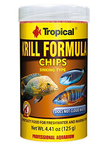 Tropical USA Krill Formula Chips Fish Food Tin, 125g (125g Tin)