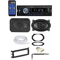 03-06 JEEP WRANGLER TJ Car Digital Media Receiver+Front 4x6 Speakers+Wire Kits