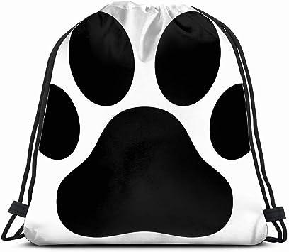 Puppy Paw Print Drawstring Backpack