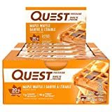 Quest Nutrition Maple Waffle Protein Bar, High Protein, Low Carb, Gluten Free, Soy Free, Keto Friendly, 12 Count