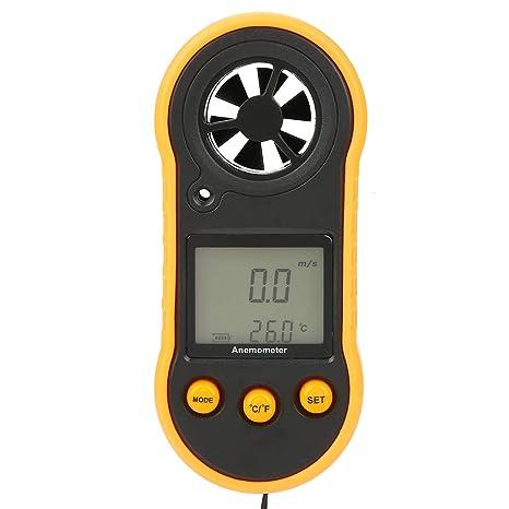 Digital Anemometer, GM818 LCD Digital Anemometer Handheld Wind Speed Gauge  Meter Air Speed Tester for Air Condition, Exhaust Fan, Navigation, 5 Unit