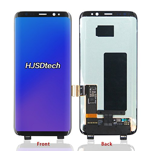 HJSDtech LCD Display Screen Touch Screen Digitizer Assembly Replacement for Samsung Galaxy S8 G9500(Black) by HJSDtech