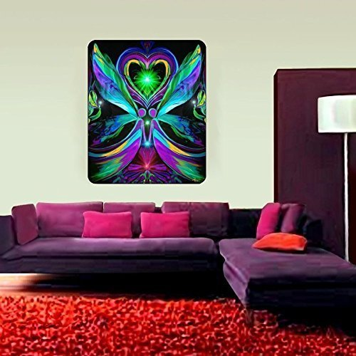 Psychedelic Tapestry, Visionary Wall Art, Chakra Art, ''Unconditional Love'' by Primal Painter