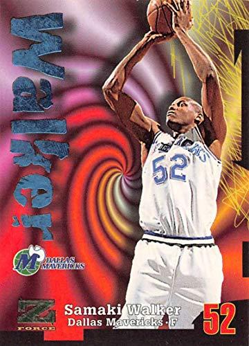(1997-98 Z-Force Basketball #52 Samaki Walker Dallas Mavericks Official NBA Trading Card From Fleer Skybox)