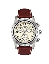 TISSOT T-SPORT V8 T36131672 GENTS BROWN LEATHER STAINLESS STEEL CASE DATE WATCH