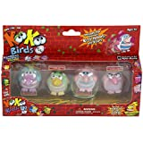 KooKoo Bird Flocked Koollectibles Series 2 Dolls 4-Pack - Snickerdoodle, Gindlesimp, Dealybopper, and Dunderfuffett