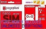 Page Plus 4G LTE Nano Sim + $55 Plan Fits Verizon iPhone 5/5s/5c/6/6 Plus HJ Wireless Activation Kit