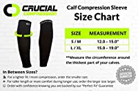Pro Calf Compression Sleeve for Men & Women (20-30mmHg) - BEST Calf Compression Socks for Running, Shin Splint, Calf Pain Relief, Leg Support Sleeve for Runners, Medical, Air Travel, Nursing, Cycling by Crucial Compression