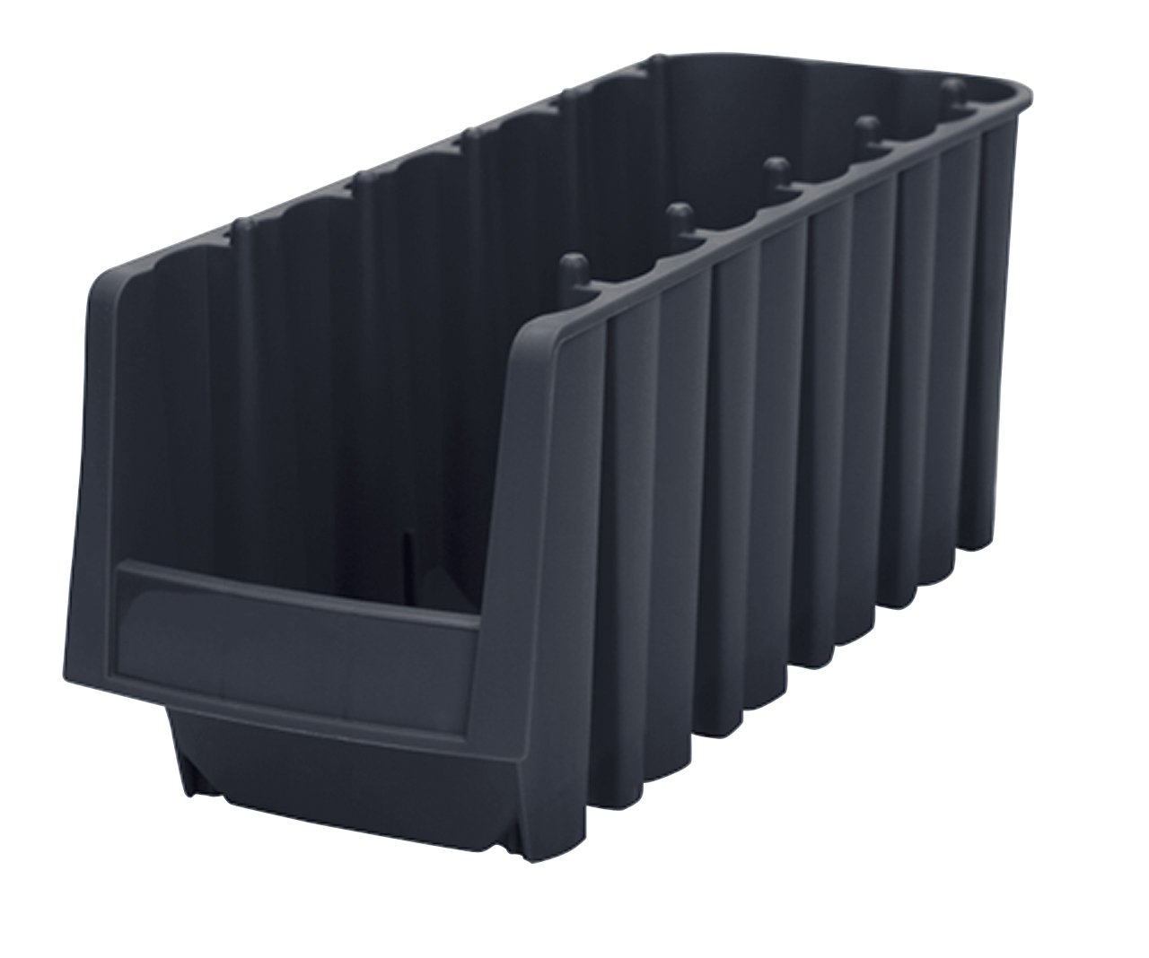 Akro-Mils 30718 Economy Stacking Nesting Plastic Storage Bin, 11-7/8-Inch Long by 8-3/8-Inch Wide by 5-Inch High, Black, Case of 8 by Akro-Mils