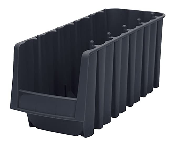 Akro-Mils 30778 Economy Stacking Nesting Plastic Storage Bin, 17-7/8-Inch Long by 8-3/8-Inch Wide by 7-Inch High, Black, Case of 8