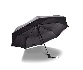 Paraguas Automático De Tres Secciones Plegable Masculino Y Femenino Paraguas De Negocios Un Botón Para Abrir