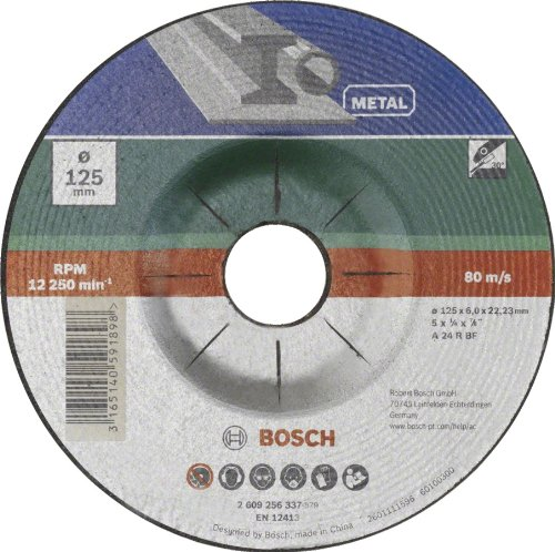 2 opinioni per Bosch 2609256337 Disco per sgrossatura, per metallo, 125 mm ø x 6 mm