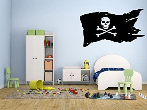 Wall Decal Sticker Bedroom Pirate Scull Dagger Hat Horror Movie Kids Girls Boys Teenager Room 442b