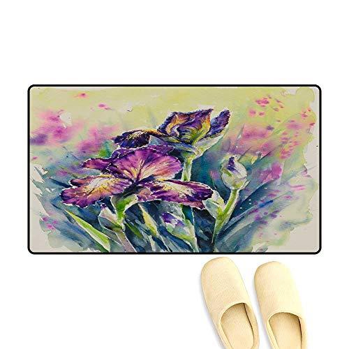 Floor Mat Pattern Iris Provencal