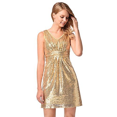c00ad7118 Lovely Moda Vestido | Vestido para mujer Lentejuelas europeas y ...