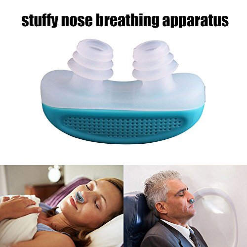 Leegoal(TM) Anti Snoring Snore Free Snore Stopper Magnetic Silicone Nose Clip Sleeping Device Stuffy Nose Breathing Apparatus - Blue