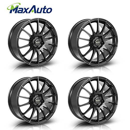Wheels 17″ 17X7.5 Rims 5X112 mm +35 mm Offset 73.1 mm Matt Black Fits Volkswagen VW Jetta Gti golf (Set of 4)