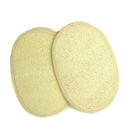 2 PCS Premium Natural Loofah Luffa Sponge Face Body Bath Shower Spa Exfoliator Scrubber Pad - Loofah Costume Homemade