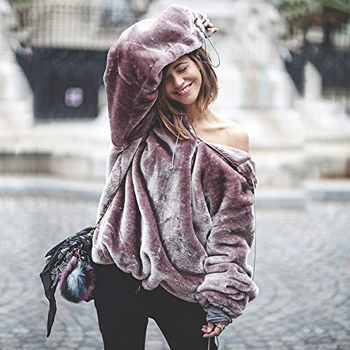 Aimee7 Hoodie Capuche À Femmes Violet Veste Longues Manteau Sweat Tops Manches Élégant Chaud rwFHprqP