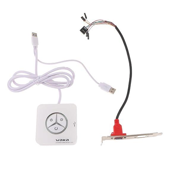 D DOLITY Interruptor Encendido Apagado Caja de PC Accesorios Botón de Reinicio de Placa Madre Ordenador: Amazon.es: Electrónica