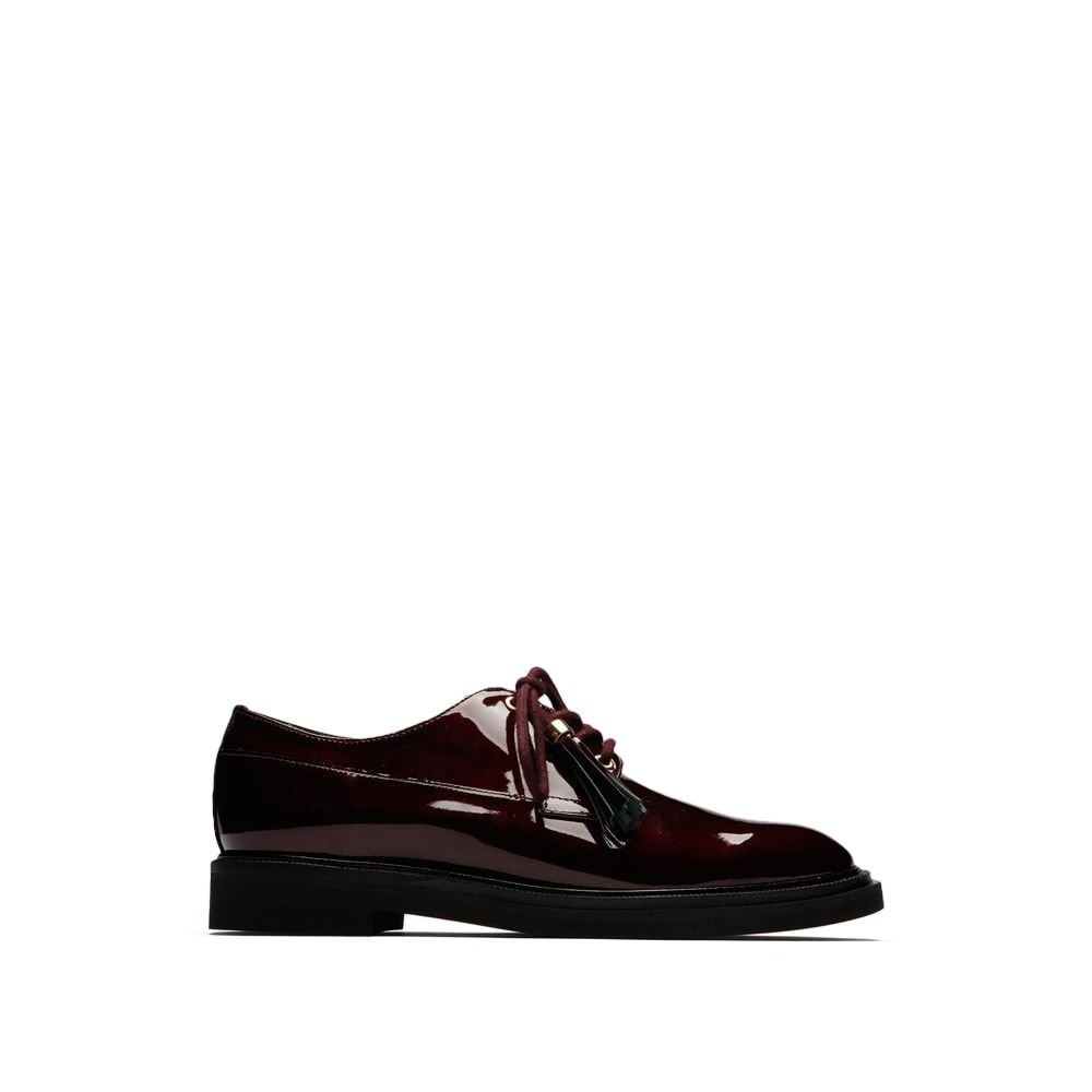 Kenneth Cole New York Women's Annie Menswear Style Leather Oxford, Wine, 8 M US