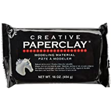 Creative Paperclay 811 Clay for Modeling Compound, 16-Ounce, White